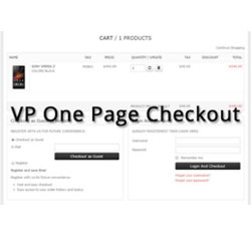 VP One Page Checkout for VirtueMart 3.1.2